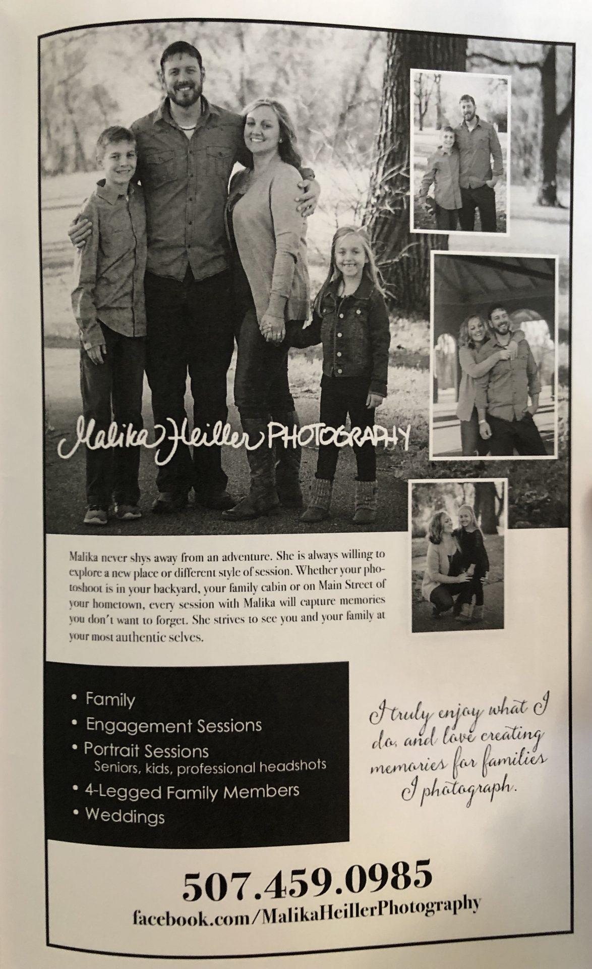 Malika Heiller Photography Ad